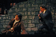 Jin Ho Hwang (L) as Edgardo and Paul Soper as Raimondo.