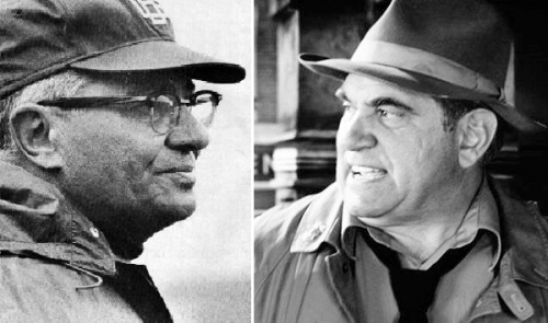 Vince Lombardi (l) and the man who will play him on stage, Dan Lauria.