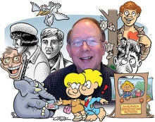 Howard Cruse and his cast of characters.