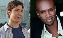 Justin Long (l) and Owiso Odera star in Samuel J and K now in rehearsal at Wiliamstown Theatre Festival.
