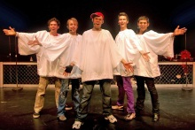The Altar Boyz – Abraham (Steven Cardona), Matthew (Trey Compton), Luke (Tom Garruto, Mark (Barry Shafrin), and Juan (Eddie Madonado).