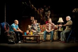 Jonathan Louis Dent (Vin), Dan McCabe (Charles), Kelsey Kurz (Joseph), and Yusef Bulos (Bill). Photo by Paul Marotta.