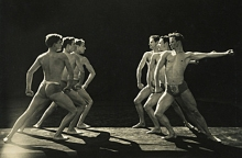 Ted Shawn's Men Dancers in Polonaise at Jacob's Pillow