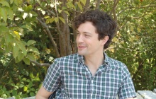 Christian Coulson talks about theatre. Larry Murray photos.