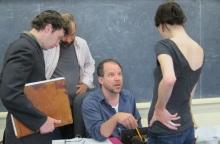 (In photo above: Adam Green, Daniel Cantor, Aaron Posner (seated) and Renata Friedman.)