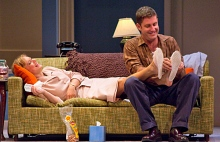 (Seen Above are Rebecca Brooksher and Paul Fitzgerald in Period of Adjustment, Photo by Christy Wright)