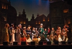 Michael Brahce and the cast of A Christmas Carol.