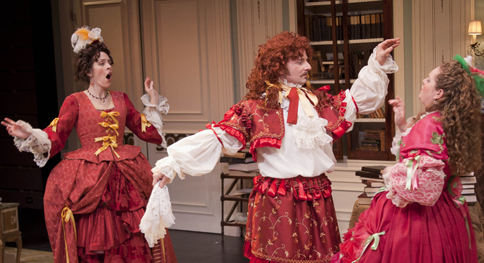 irony in tartuffe The use of irony, sarcasm, ridicule, or the like, in exposing, denouncing,  at the  end of tartuffe, who explains that the king has broken orgon's contract with.