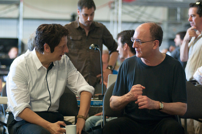 "Robert Lepage, director of the Metropolitan Opera's ""Ring"" cycle, with Peter Gelb, the Met's General Manager. Photo: Yves Renaud/Metropolitan Opera"