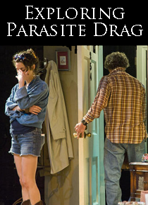 Kate Abbruzzesi (l) and Jason Asprey in Parasite Drag. Photo: Kevin Sprague.