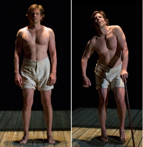 The transformation of Bradley Cooper into The Elephant Man. Photos by T. Charles Erickson.