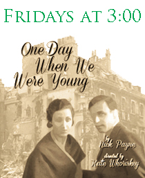 NewPlay Readings take place on Fridays at 3:00.  One Day When We Were Young by Nick Payne and Directed by Kate Whoriskey will be read on August 17.