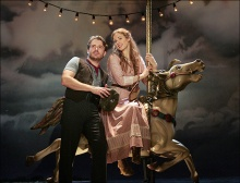 James Snyder as Billy Bigelow, Teal Wicks as Julie Jordan in Carousel at the Goodspeed Opera House, East Haddam, CT through September 29.
