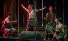 Lord of the Flies: Christopher Sears, Eric Meyers, John Evans Reese and Will Bradley. Photo by Kevin Sprague.