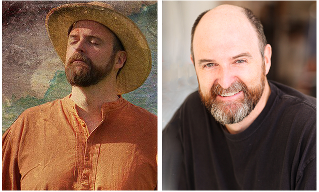 Jim Briggs as himself and as Vincent Van Gogh. Photo: Margo Neely/Neely Air
