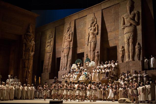"A scene from Verdi's ""Aida"". Photo: Marty Sohl/Metropolitan Opera (c) 2007"