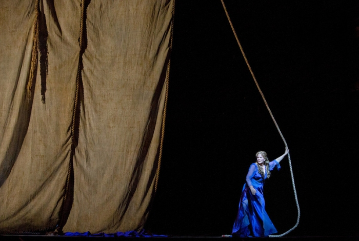"The curtain rises on Susan Graham as Dido in Berlioz's ""Les Troyens."""
