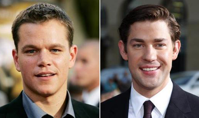 Matt Damon (l) and John Krasinski wrote and acted in the film, Promised Land..