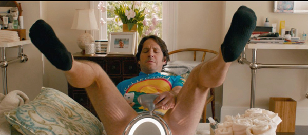 Paul Rudd finds himself in a compromising situation.