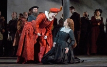 "Elza van den Heever as Elisabetta and Joyce DiDonato as the title character in Donizetti's ""Maria Stuarda. Photo: Ken Howard"