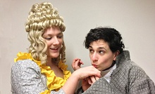Kiki Samko as Katrina Van Tassel and Jill Rogati as Ichabod Crane.