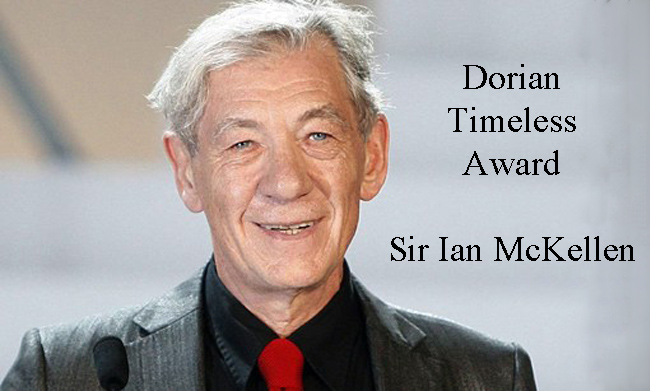 "Sir Ian McKellen will receive the ""Timeless"" award from the Gay and Lesbian Entertainment Critics Association at the Dorian Awards"