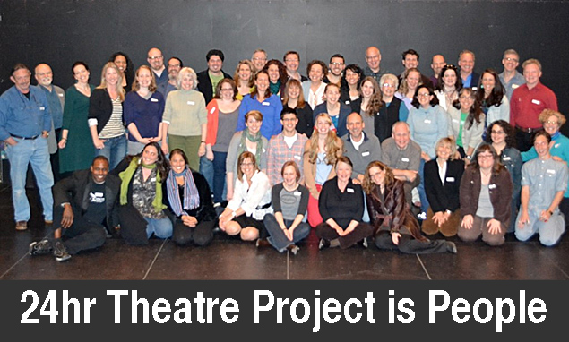 Cast, crew, directors, designers & producers of the 2012 24hr Theatre Project.