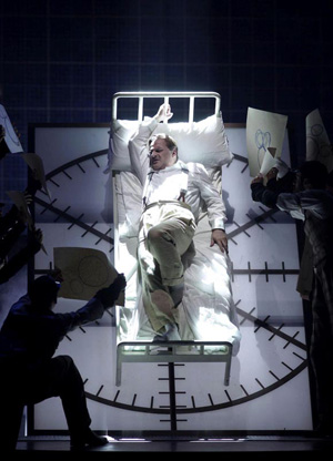 Christopher Purves portrays a tormented Disney in the Philip Glass Opera, The Perfect American..