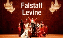"A scene from a new production of ""Falstaff,"" conducted by James Levine and directed by Robert Carsen, which will be transmitted live as part of the 2013-14 season of The Met: Live in HD series on December 14, 2013. Royal Opera House Photo: Catherine Ashmore"