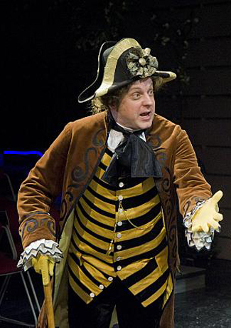 Buzzing on and off stage was Jake Berger as the father of The Liar, and he was dressed in a witty bumblebee costume.