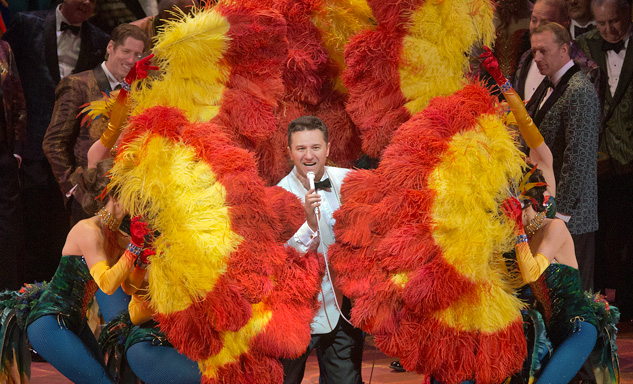 Piotr Beczala sings the Duke, an amoral lounge singer. Photo by Ken Howard taken at 1/24/13 rehearsal.