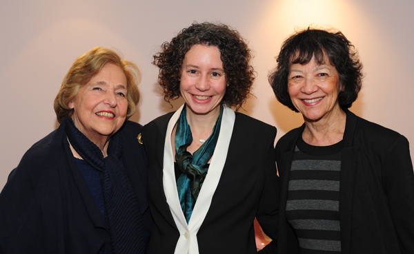 Movers and shakers: Seen here are (l to r) Lola Jaffe, Beryl Jolly and Maggie Buchwald. Buchwald was recently elected chair to succeed Lola Jaffe who founded the non-profit organization ten years ago and who championed the campaign to restore the 100-year-old Mahaiwe Theater, creating a year-round performing arts center. Ms. Jaffe will continue to serve on the board as founding chair. Jolly is the Executive Director responsible for the the day to day operations of the performing arts center.