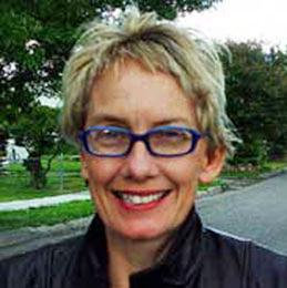 Videoe artist Mary Ellen Strom.
