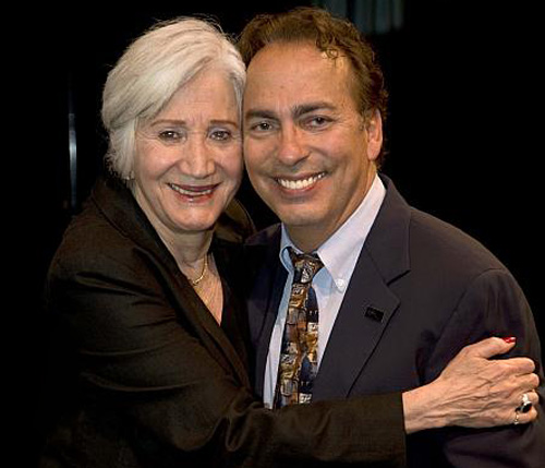 The Berkshires new dynamic theatre duo, Olympia Dukakis and Tony Simotes.