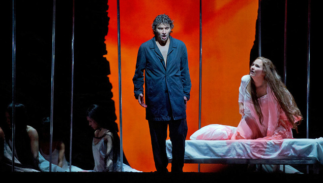 "Jonas Kaufmann as the title character and Katarina Dalayman as Kundry in Wagner's ""Parsifal."" Photo: Ken Howard/Metropolitan Opera."