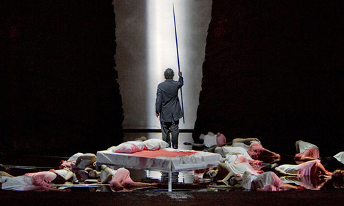 "A scene from Act II of Wagner's ""Parsifal"" with Jonas Kaufmann as the title character. Photo: Ken Howard/Metropolitan Opera"
