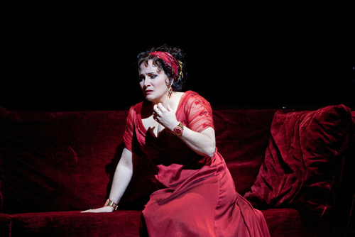 "Patricia Racette as Tosca in a scene from Act II of Puccini's ""Tosca."" Racette reprises her role this season as part of The Met: Live in HD series on November 9, 2013. Photo: Ken Howard"