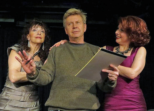 The Real (Desperate) Housewives of Columbia County Musical -- L-R: Constance Lopez, Carl Ritchie, Meg Dooley. Photo by Adele Bossard.
