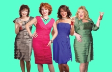 The Real (Desperate) Housewives of Columbia County appearing at the Laurie Beechman Theatre (l to r) Constance Lopez, Meg Dooley, Diedre Bollinger, Lisa Franklin.  Photo by Michael Molinski.