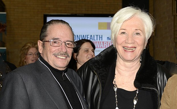 Steven Mindich accepted a Commonwealth Award along with Olympia Dukakis earlier this year.
