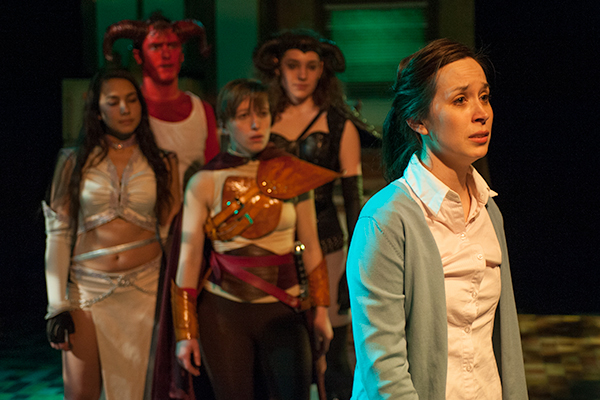 Katherine Banks as Agnes in She Kills Monsters with Rinska Carrasco-Prestinary, Morgan Maher, Jessica London-Shields and Sara Sawicki. Photo credit: Michael Brosilow