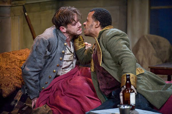 Nick Westrate (L) and LeRoy McClain in The Whipping Man (2010) at Barrington Stage Company. Kevin Sprague photo.