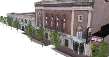 The BU Theatre on Huntington Avenue in Boston.