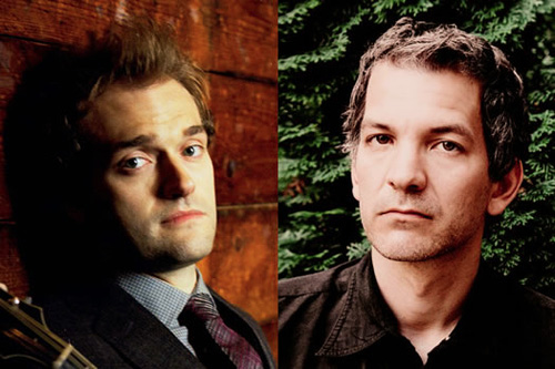 Chris Thile (l) and Brad Mehldau at the Mahaiwe April 13.
