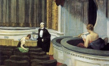 "Back in the day, a critic got ""two on the aisle"" but they would dress up and arrive early. (Edward Hopper, 1927)"