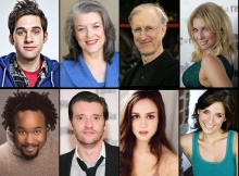 Top Row  (l to r) Adam Chandler-Berat, Cass Morgan, James Cromwell, Ari Graynor. Bottom row (l to r) Jacob Ming-Trent, Jason Butler Harner, Heather Lind, Elena Shaddow.