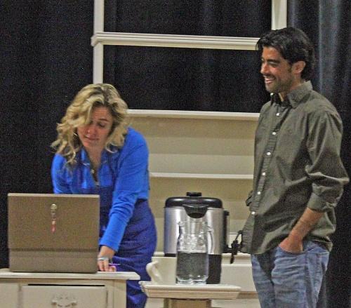Lissa (Jenny Strassburg) and Robert (Simon Yokoyama).