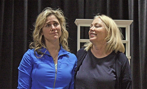 "(l to r) Jenny Strassburg and Melissa Hurst in ""A Strange Disappearance of Bees"" at Oldcastle Theaetre Company."