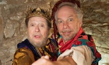 "Robert D. Lohbauer (l) and Jonathan Epstein in ""The Jewish Jester: A Fable With Music."""