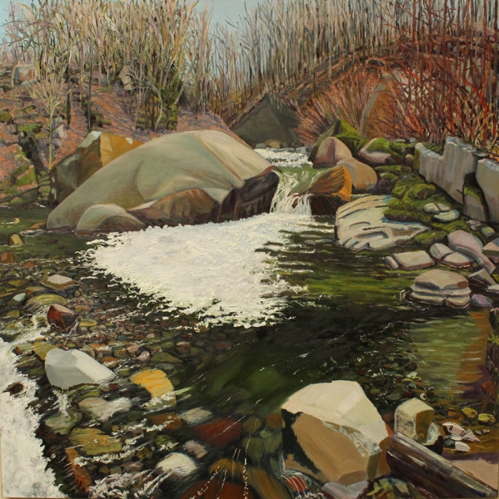 """Now a Small Flood Plain with Grass (2010) by Henry Ekman Klein at the Berkshire Museum."